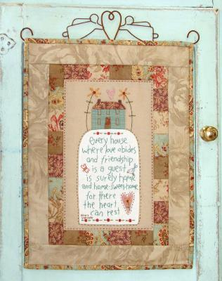 "PatronPanneau Home Sweet Home ""The Birdhouse patchwork designs"""